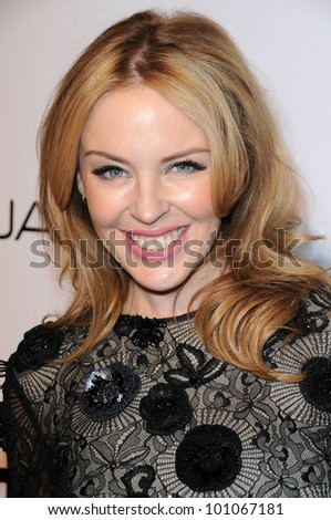 Kylie Minogue  at amfAR Inspiration Gala Celebrating Men's Style with Piaget and DSquared 2, Chateau Marmont, Los Angeles, CA. 10-27-10 - stock photo