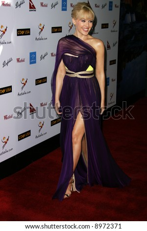 KYLIE MINOGUE. The Australia Weeks G'Day USA Gala held at the Kodak Theatre in Hollywood - 19 January 2008. Compulsory Credit: Entertainment Press