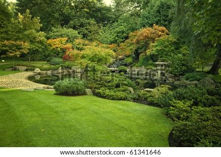 Kyoto Garden in Holland Park, London, UK.