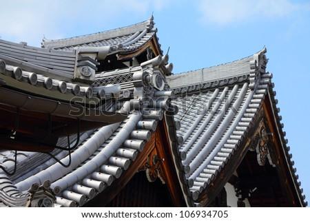 Kyoto, Japan - Tenryuji Temple in Arashiyama. Buddhist zen temple of Rinzai school. UNESCO World Heritage Site.