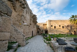 Kyrenia Castle (Girne Kalesi) was built in the 7th century by the Byzantines to protect the city against Arab-Islamic raids. There is a Byzantine church (St. George Church) inside the castle. CYPRUS