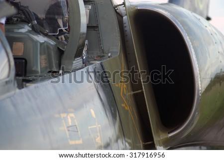 L-39 Albatros jet trainer engine left air intake #317916956
