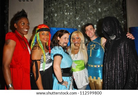 L-R Whip-Snap, Braid, Hygena, Ms. Limelight, Parthenon and Dr. Dark at the \