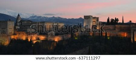 La Alhambra at night #637111297