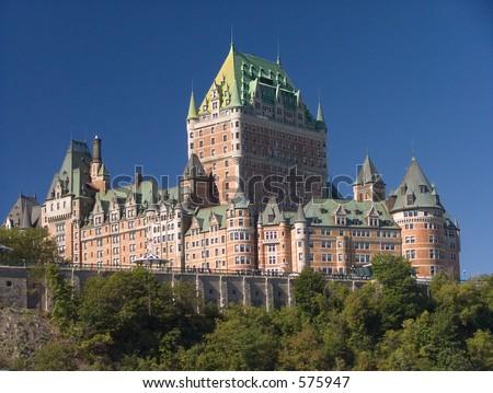 La borne limite bien connue de ville du Québec - stock photo
