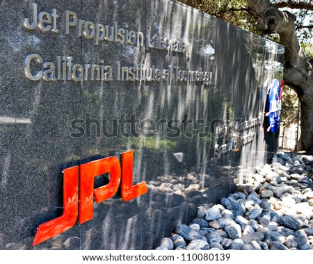 LA CANADA, CA - AUGUST 13: The entrance to NASA's Jet Propulsion Laboratory in La Canada, CA on August 13, 2012. NASA recently landed the Mars Science Laboratory on the surface of Mars.