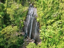 La Coca Waterfall — Aerial Drone Photography — El Yunque, Puerto Rico