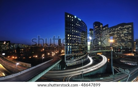 la defense district by night - Paris