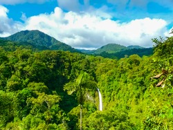 La Fortuna de San Carlos waterfall, Arenal volcano national park, Alajuela, San Carlos, Costa Rica