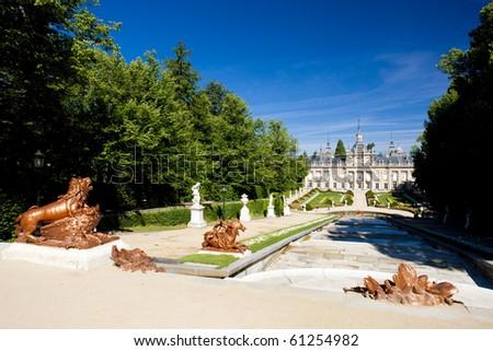 La Granja de San Ildefonso with garden, Segovia Province, Castile and Leon, Spain