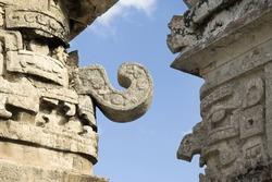 La Iglesia, The Church, Complex Las Monjas, Carved walls, Chichen Itza; Yucatan, Mexico
