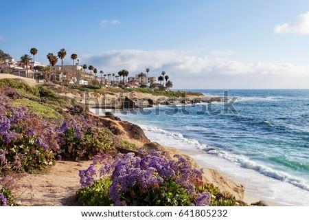 La Jolla at sunset - Southern California, United States of America  #641805232