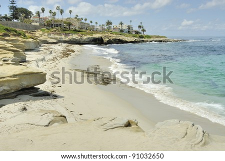 La Jolla Coast in Southern California - stock photo