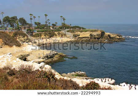 La Jolla Cove in San Diego during Summer