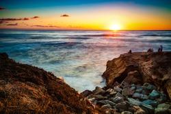 La Jolla sunset. San Diego California USA.