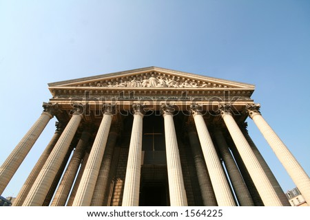 La madeleine monument in paris stock photo 1564225 shutterstock - Monument la madeleine ...