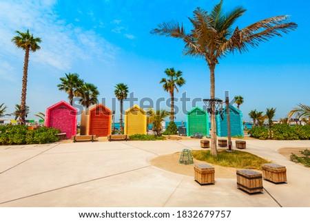 La Mer or Jumeira beach is a public beach in Dubai city in UAE Stock fotó ©