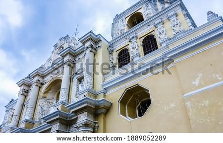 La Merced Church in Antigua Guatemala.Guatemala, Photo stock ©