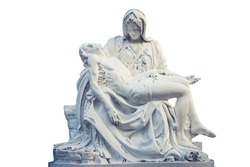 La Pieta statue - The blessed Virgin Mary holding dead Jesus Christ body
