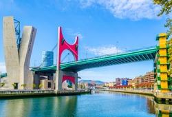 La salve zubia bridge in the spanish city Bilbao