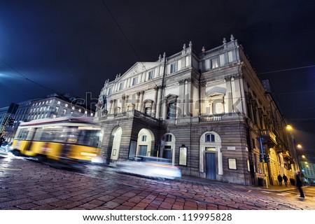 La Scala opera house, The most famous italian theatre in milan