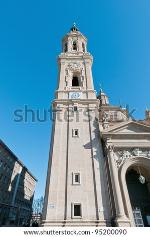 La Seo also known as Salvador Cathedral at Zaragoza, Spain