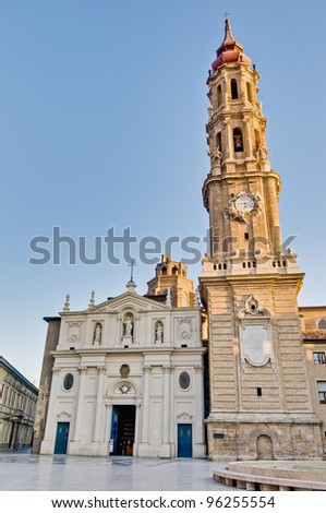La Seo also known as Salvador Cathedral at Zaragoza, Spain