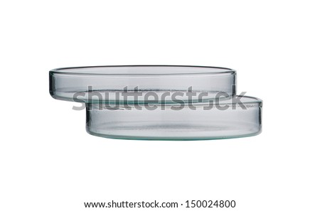 Lab. petri dish. Laboratory glassware on background
