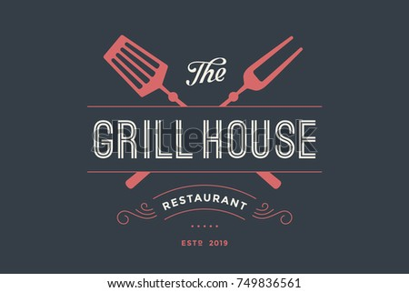 label of grill house restaurant ...
