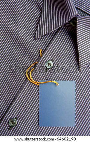 Label of new men's shirt - stock photo