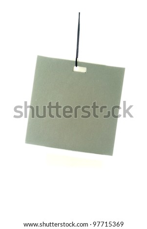 Label on a white background