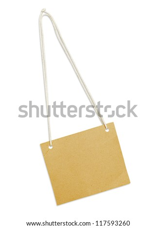 Label on white background