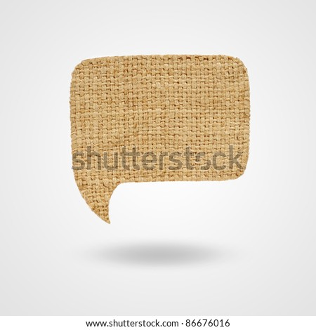 Label sackcloth for your text