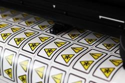 Label Warning Cutting plotter yellow danger