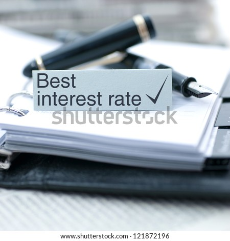 Label with text: Best interest rate