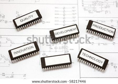 Labeled integrated circuits with one blank pole