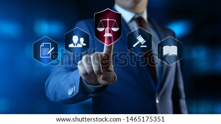Labor Law Lawyer Legal Business Internet Technology Concept ストックフォト ©