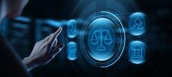 Labor Law Legal Business Internet Technology Concept