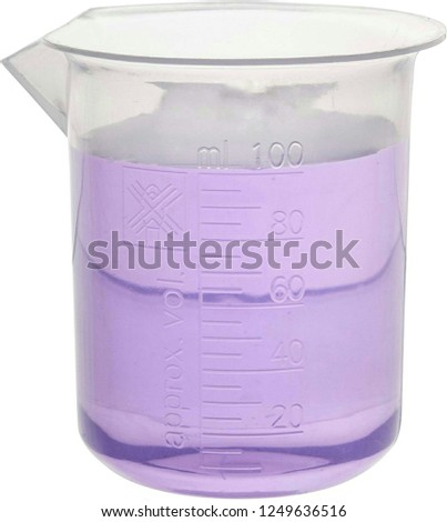 laboratory conical flask or tube isolated on white background