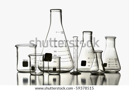 Laboratory Glassware isolated on a white background
