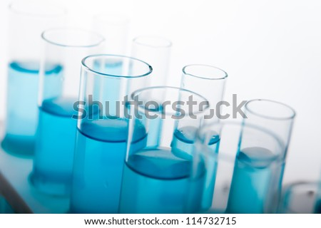 Laboratory Lab Tube in blue sample