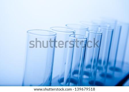Laboratory Lab Tube in blue sample