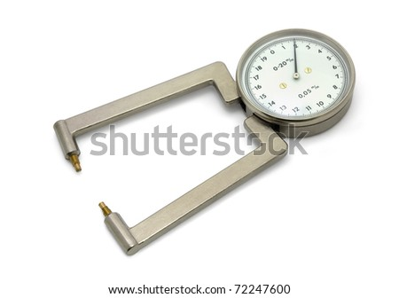 Laboratory micrometer isolated on white