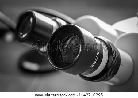 Laboratory Microscope Eyepiece  #1142710295