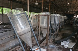 Laboratory of Hydrobiology animal building in Pripyat, Chernobyl exclusion Zone. Chernobyl Nuclear Power Plant Zone of Alienation in Ukraine Soviet Union
