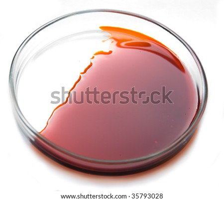 laboratory petri dish with test oil