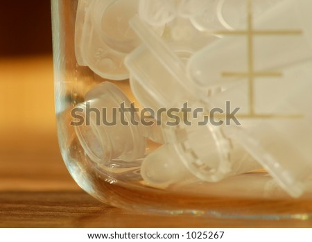 Laboratory Tubes in a Glass Beaker