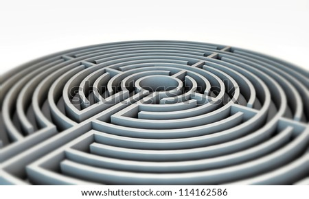 labyrinth isolated on white background
