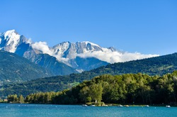 Lac de Passy, with Mont Blanc Mountain in the background