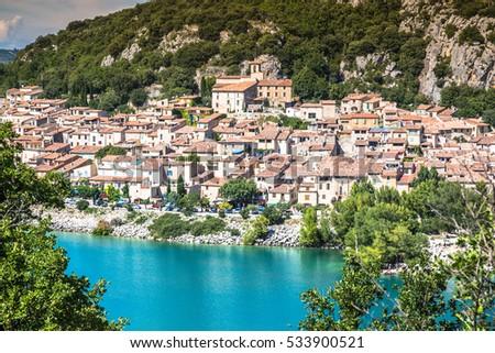 Lac de Sainte-Croix, Lake of Sainte-Croix, Gorges du Verdon, Provence, France